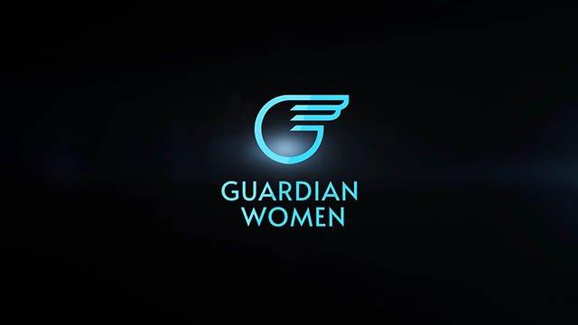 Guardian Women logo on a black background