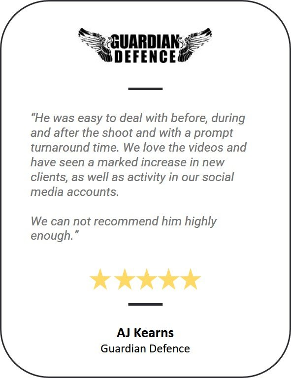 5 star testimonial from guardian defence